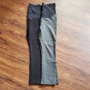 Maternity black and grey skinny pants lot